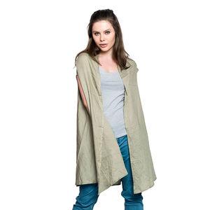 Laurel Oak 100% Rayon Round Drape Kimono Vest (Free Size)