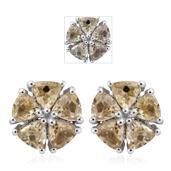 Turkizite Platinum Over Sterling Silver Stud Earrings TGW 1.70 cts.