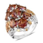 Mystic Twilight Topaz 14K YG and Platinum Over Sterling Silver Ring (Size 7.0) TGW 8.80 cts.