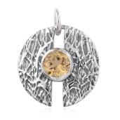 Brazilian Citrine Sterling Silver Pendant without Chain TGW 1.32 cts.