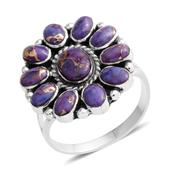 Santa Fe Style Mojave Purple Turquoise Sterling Silver Ring (Size 7.0) TGW 4.35 cts.