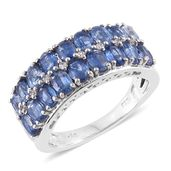 Himalayan Kyanite, Cambodian Zircon Platinum Over Sterling Silver Ring (Size 5.0) TGW 4.14 cts.