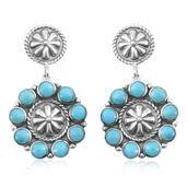 Santa Fe Style Kingman Turquoise Sterling Silver Earrings TGW 3.25 cts.