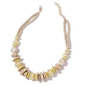 Designer Inspired Cream Chroma Goldtone Necklace (24 in)