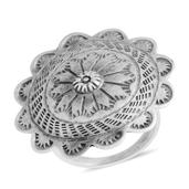 Santa Fe Style Sterling Silver Ring (Size 7.0)