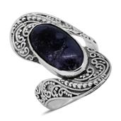 Bali Legacy Collection Utah Tiffany Stone Sterling Silver Ring (Size 10.0) TGW 7.15 cts.