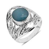 Bali Legacy Collection Sea Mist Larimar Sterling Silver Ring (Size 5.0) TGW 5.13 cts.