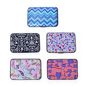 Set of 5 Multi Color Textile and Flag Pattern RFID Blocking Card Holders (4x.5x2.75 in)