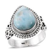 Artisan Crafted Sea Mist Larimar Sterling Silver Ring (Size 7.0) TGW 6.75 cts.