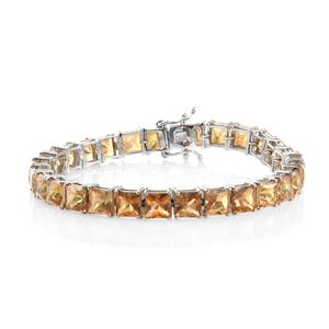 Mystic Twilight Topaz Platinum Over Sterling Silver Bracelet (7.50 In) TGW 41.15 cts.