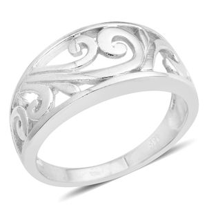 Silvertone Ring (Size 7.0)