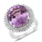 Tony's Collector Show 14K WG Kunzite, Diamond Ring (Size 7.0) TDiaWt 0.72 cts, TGW 18.37 cts.