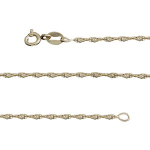 14K YG Over Sterling Silver Singapore Chain (36 in, 3.1 g)