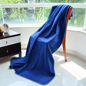 Blue 100% Polyester Throws (51.18x66.92 in)