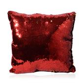 Home Textiles Gold and Orange Square Sequn Pillow