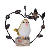 Resin and Iron Bird Hanging Decor (Battery Not Included) TGW 500.00 cts.