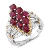 Niassa Ruby 14K YG and Platinum Over Sterling Silver Ring (Size 10.0) TGW 5.20 cts.