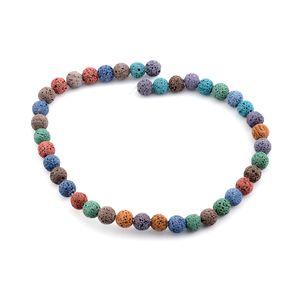 Gem Workshop Multi Color Lava Bead Strand (16 in, 10.5 mm)