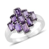 Rose De France Amethyst Stainless Steel Ring (Size 7.0) TGW 2.52 cts.