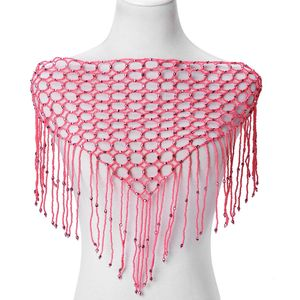 Pink Glass, Resin Bib Necklace (49 in) TGW 755.50 cts.