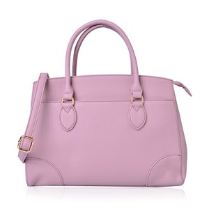 Pink Faux Leather Handbag (14.1x5.5x10 in)