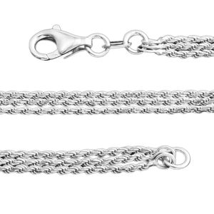 Sterling Silver Rope Chain (20 in)