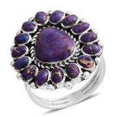 Santa Fe Style Mojave Purple Turquoise Sterling Silver Ring (Size 10.0) TGW 2.25 cts.