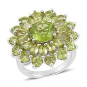Hebei Peridot Sterling Silver Ring (Size 9.0) TGW 7.00 cts.