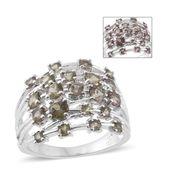 Bekily Color Change Garnet Platinum Over Sterling Silver Ring (Size 8.0) TGW 2.88 cts.