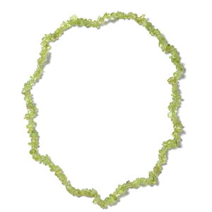 Hebei Peridot Chips Necklace or Wrap Bracelet (Stretchable) TGW 97.50 cts.