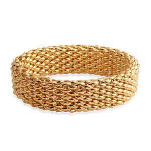 Goldtone Widen Popcorn Bracelet (Stretchable)