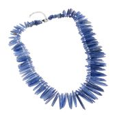 Himalayan Kyanite, Chroma Beads Sterling Silver Necklace (18 in) TGW 385.00 cts.