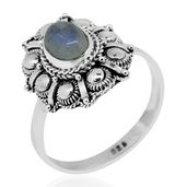 Bali Legacy Collection Sri Lankan Rainbow Moonstone Sterling Silver Ring (Size 7.0) TGW 1.64 cts.