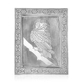 Oxidized Picture Frame with Owl Embossed (11x9 in)