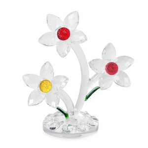 Multi Color Floral Crystal Home Decor with Gift Box (7x6 in)