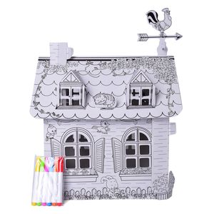 DIY Doodle-3D Cottage 100% Recycled Paper