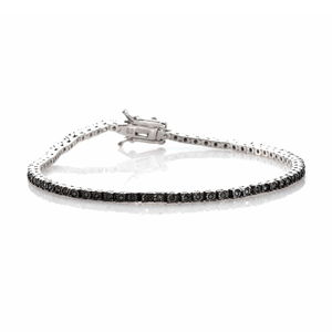 Green Diamond (IR) Platinum Over Sterling Silver Bracelet (7.50 In) TDiaWt 0.33 cts, TGW 0.33 cts.