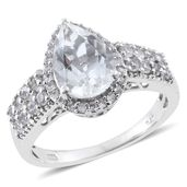 Petalite, Cambodian Zircon Platinum Over Sterling Silver Ring (Size 7.0) TGW 3.55 cts.