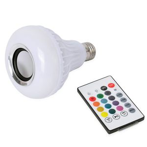 Musical LED Speaker Box Light Bulb with Bluetooth Remote (13 Colors and 4 Light Modes)