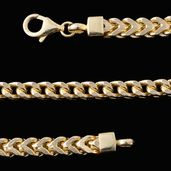 Gold Over Sterling Silver Chain (28 in)