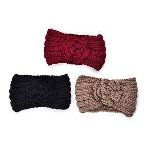 100% Polyester Set of 3 Multi Color 100% Polyester Winter Floral Hairbands (5x9 in)