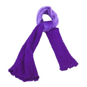 Purple 100% Acrylic Faux Fur Scarf (One Size)