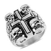 Halloween Black Oxidized Stainless Steel Ring (Size 12.0)