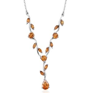 Serra Gaucha Citrine Platinum Over Sterling Silver Necklace (18 in) TGW 2.11 cts.