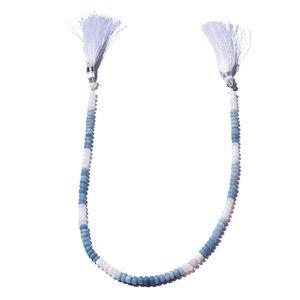 Gem Workshop Blue Opal Bead Strand (13 in, 5 mm) Total Gem Stone Weight 48.00 Carat