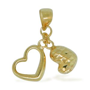 Bali Legacy Collection 10K YG Heart Pendant without Chain (0.51 g)