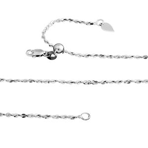 Sterling Silver Serpentine Chain (24 in)