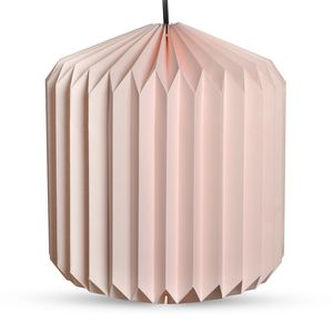 Pink Paper Cylendrical Shape Lantern with Electical Holder and Wire (22x13 in)