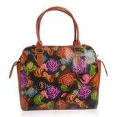 Vivid by Sukriti Multi Color Floral Printed Leather Tote Bag