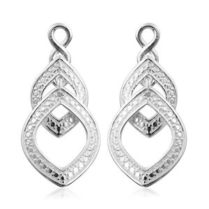 Diamond Accent Sterling Silver Dangle Earrings